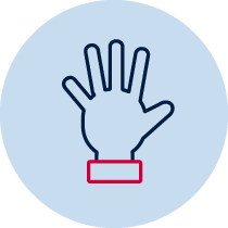 icon representing hands on/practical work