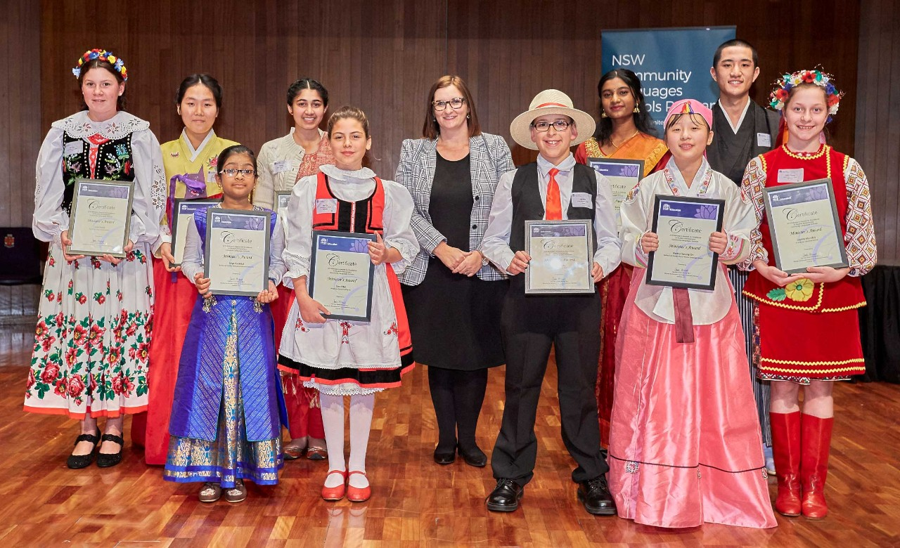 2019 - The Honourable Sarah Mitchell, Minister for Education and Early Childhood Learning with 10 recipients of the Minister's Awards for Excellence