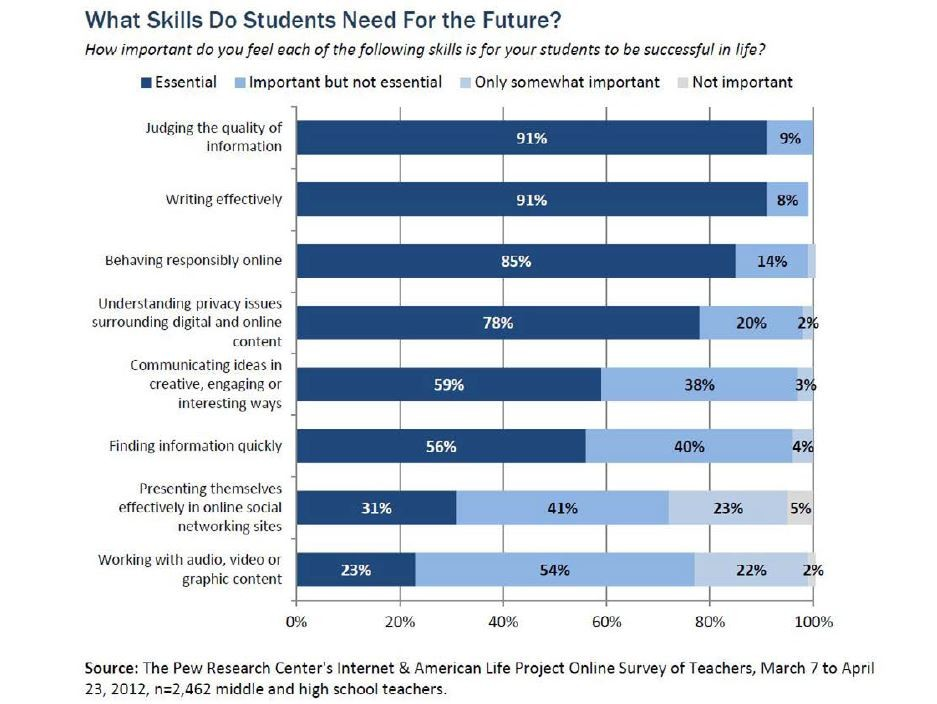 Pew internet data on future skills