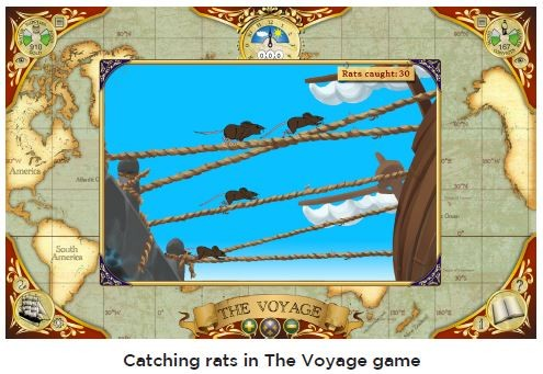An image of catching rats in the voyage game