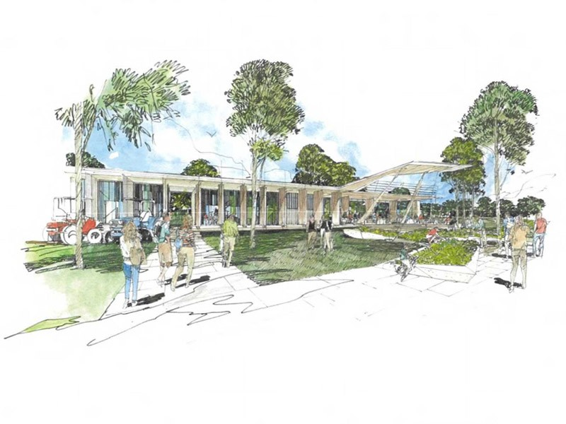 An artist's impression of the Centre of Excellence in Agricultural Education in the Hawkesbury.