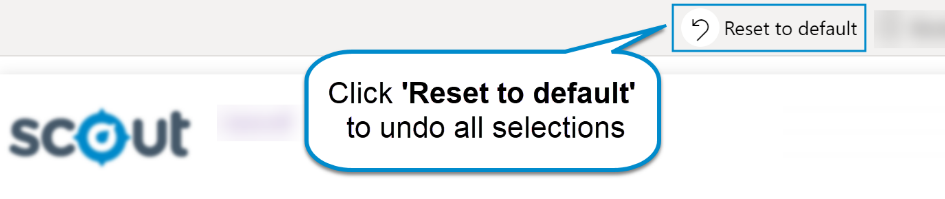 Reset to default