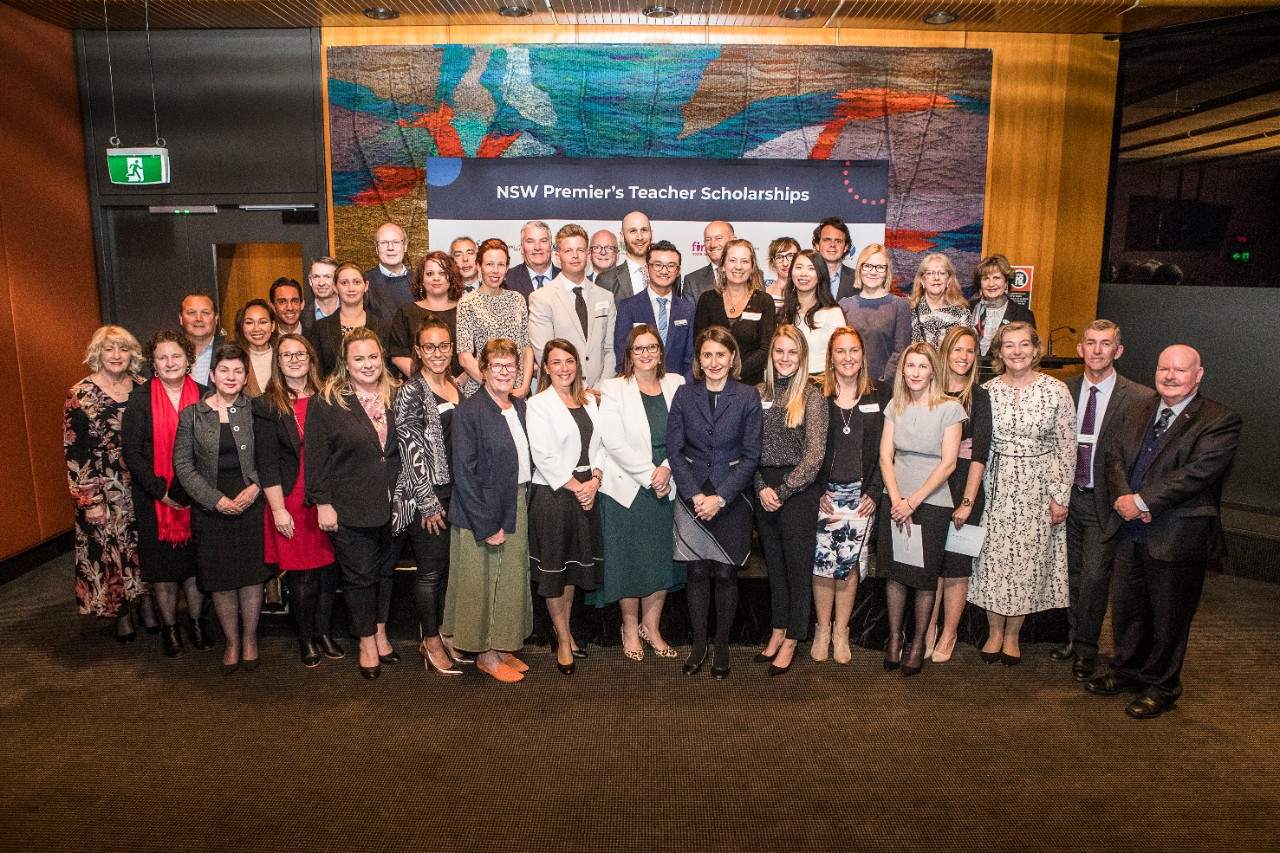2020 Premiers Teachers Scholarships recipients, sponsors at official reception