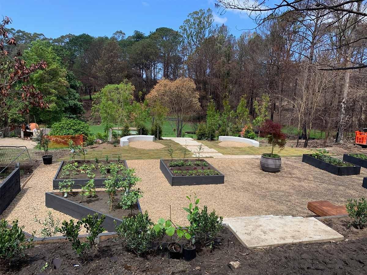 Garden repaired