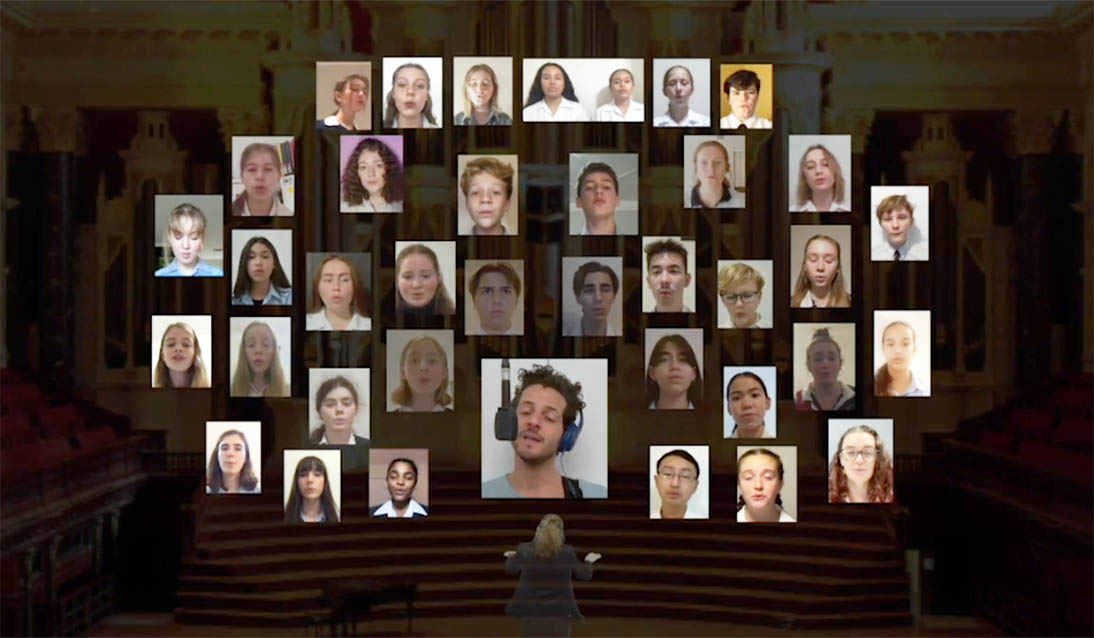 A virtual performance of Lior's 'Real Love' with students from NSW public schools
