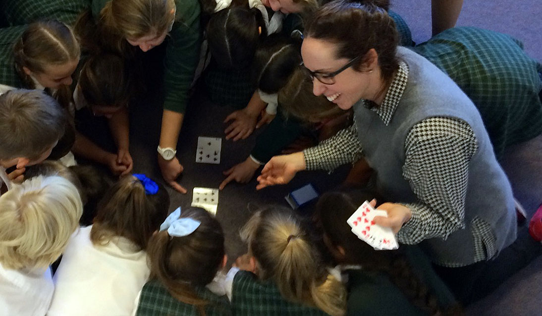 Michelle Tregoning, leader mathematics professional learning helping students develop maths skills.