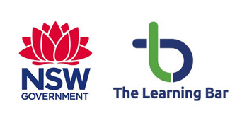 NSW Government and The Learning Bar corporate logos