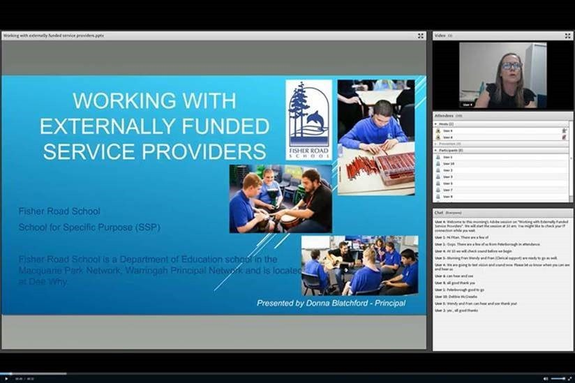 Screenshot of webinar in progress