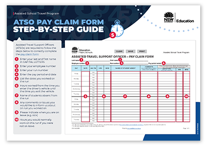ATSO pay claim form guide