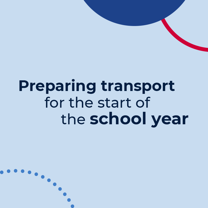 Preparing transport for the start of the school year.